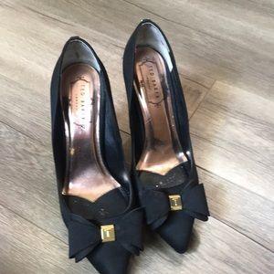 Ted baker black bow heels